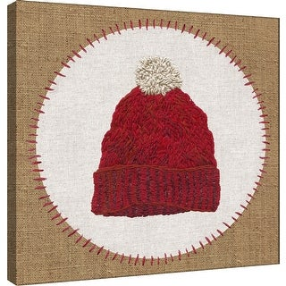 """PTM Images 9-101188  PTM Canvas Collection 12"""" x 12"""" - """"Winter Hat"""" Giclee Hat Badge Art Print on Canvas"""