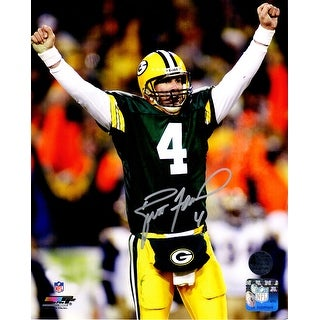 Brett Favre Green Bay Packers Arms Raised 8x10 Photo
