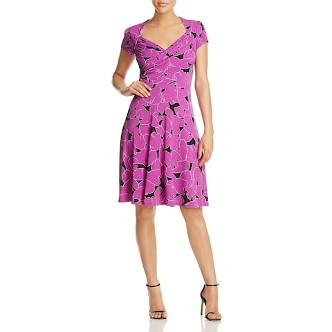 Leota Womens Sweetheart Wear to Work Dress Short Sleeve Knee Length