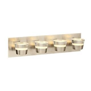 "PLC Lighting 90064 Sitra 4 Light 22"" Wide Integrated LED Vanity Strip - satin nickel"