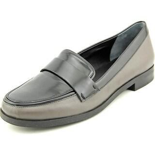 Franco Sarto Valera Women Round Toe Leather Gray Loafer (Option: Comfortable)