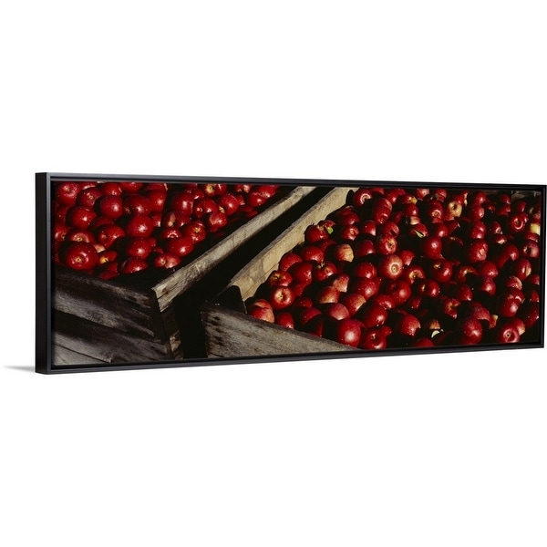 Heap of apples in wooden crates, Grand Rapids, Kent County, Michigan -  Multi-color