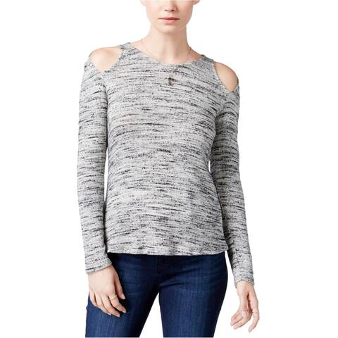 Bar Iii Womens Cold-Shoulder Basic T-Shirt