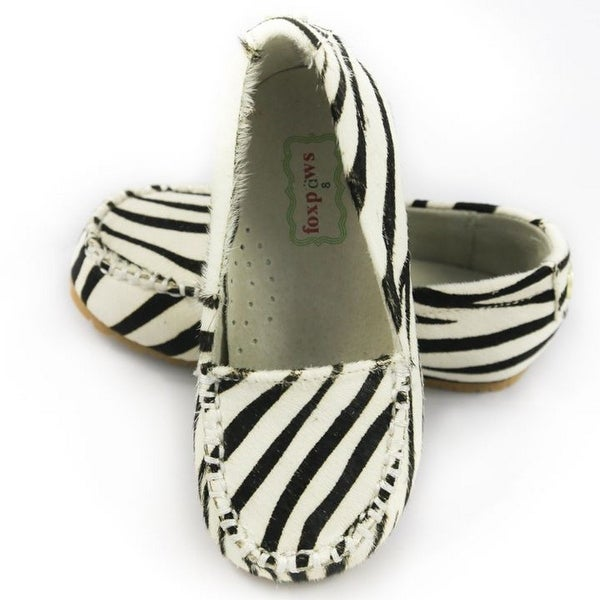 9039e7e814c Shop Foxpaws Zebra Ava Leather Little Girl Loafers Shoe 11-12 - Free  Shipping On Orders Over  45 - Overstock - 25600354