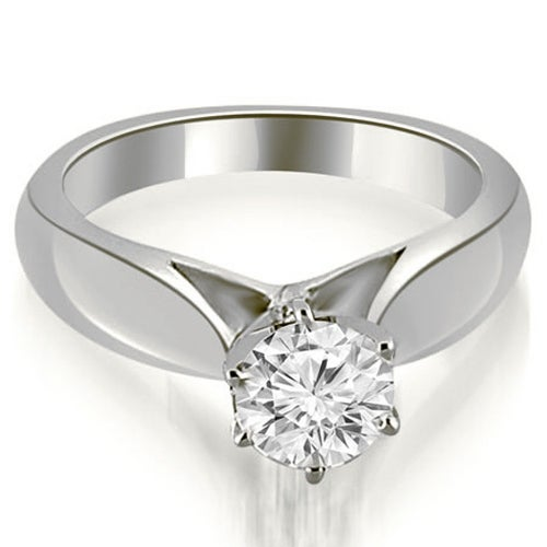 0.50 cttw. 14K White Gold Cathedral Solitaire Diamond Engagement Ring