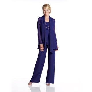 Three-Piece Chiffon Pantsuit