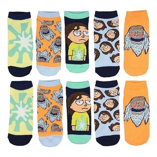 Rick And Morty Hippie Women's 5 Pack Low Cut Ankle Socks