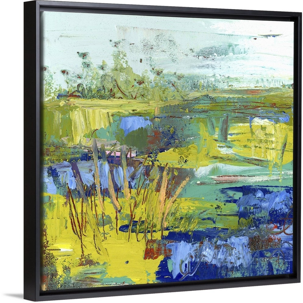 Abstract Summer Marsh Ii Black Float Frame Canvas Art Overstock 25506023