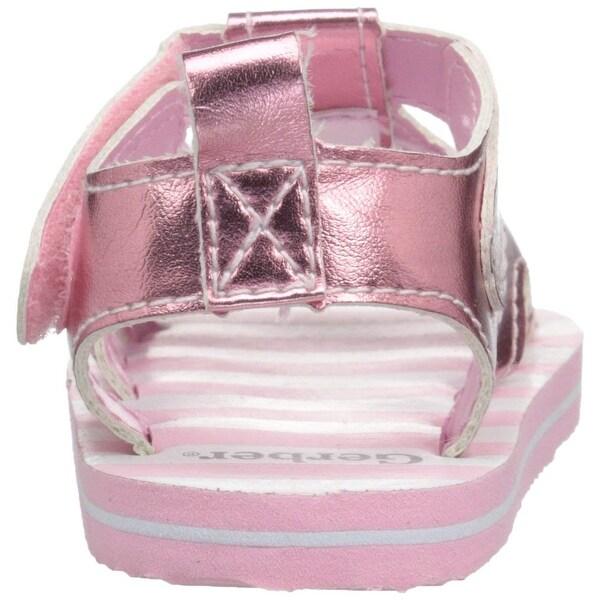 Gerber Baby Gerber Pink Puppy Sandals, Pink, Size 3 M US Baby
