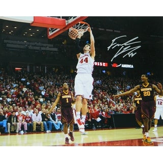 Frank Kaminsky Signed Wisconsin Badgers Two Hand Slam Dunk 16x20 Photo