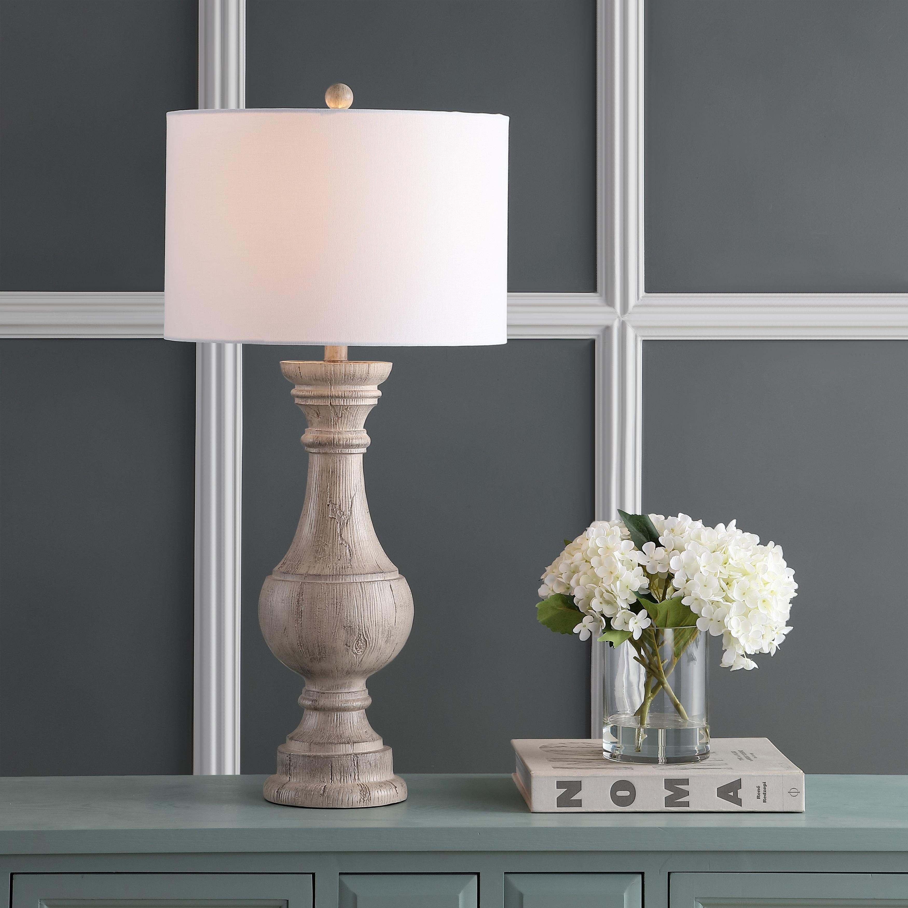 Safavieh Lighting 31 Inch Savion White Led Table Lamp Set Of 2 16 X16 X31 3 Overstock 27123754