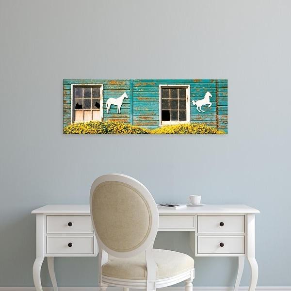 Easy Art Prints Panoramic Images's 'Detail of old horse barn, Escondido, California, USA' Premium Canvas Art