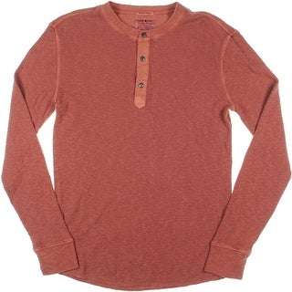 Lucky Brand Mens Thermal Long Sleeves Henley Shirt