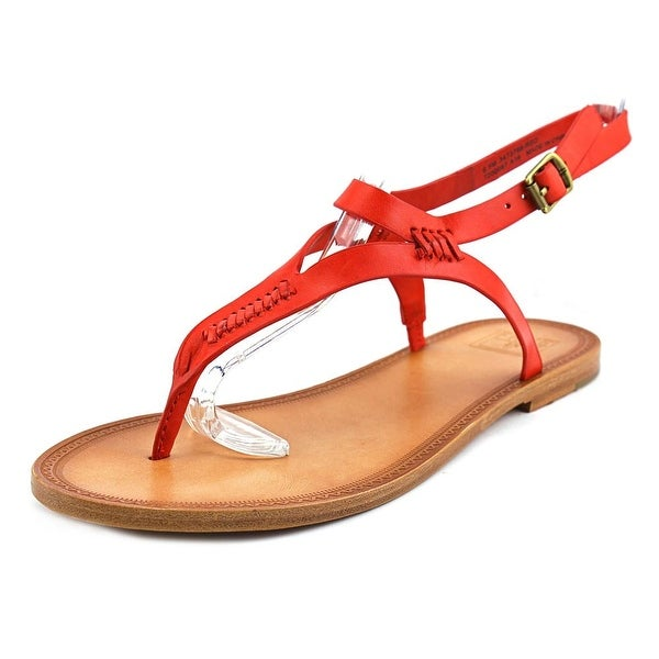 Frye Ruth Whipstitch Women Red Sandals
