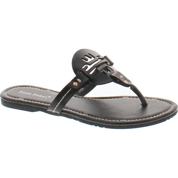 Pierre Dumas Women's Lily13 Ornament Synthetic Sandals - Black