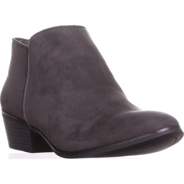 SC35 Wileyy Low Block-Heel Ankle Boots, Charcoal