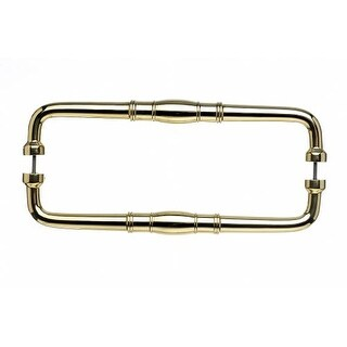Top Knobs M840-12pair Normandy Collection 12 Inch Center to Center Polished Brass Back to Back Door Pull Pair