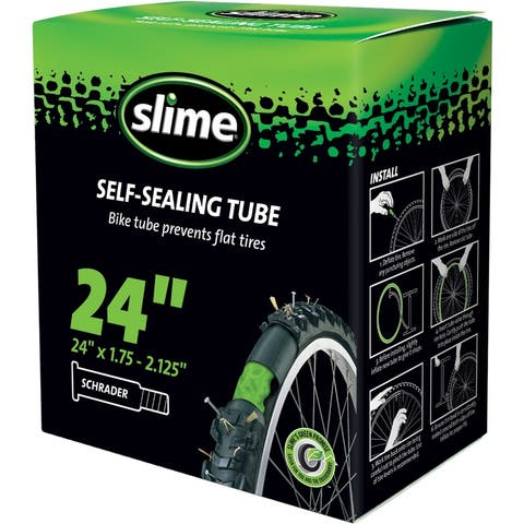 Slime 30047 Smart Tube Self-Sealing Bicycle Inner Tube, 24""