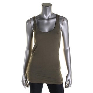 Planet Gold Womens Juniors Tank Top Knit Stretch