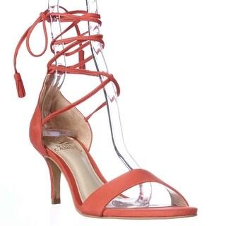 Vince Camuto Kathin Ankle Lace Up Dress Sandals - Tart