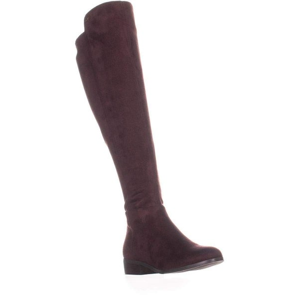 Michael Kors Womens Bromley Leather Closed Toe Over Knee Riding Boots