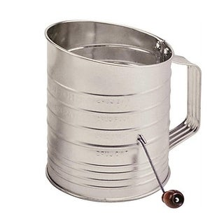Norpro 40 Flour Sifter 5 Cup With Crank, Silver
