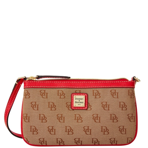 Dooney & Bourke Madison Signature Large Slim Wristlet (Introduced by Dooney & Bourke at $78 in Nov 2015) - Red