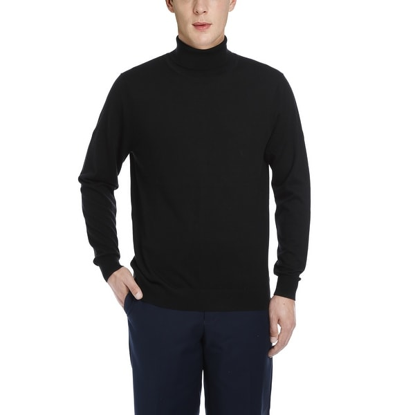 Mens Cashmere Turtleneck Sweater Long Sleeve Pullover