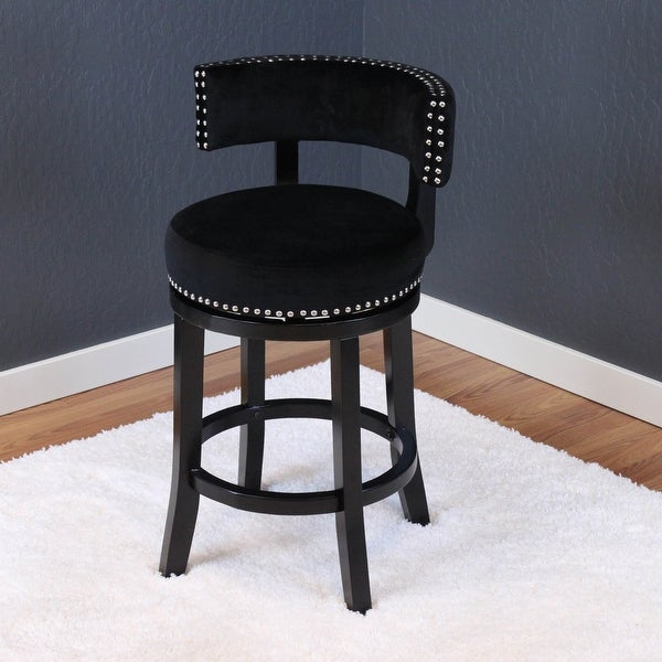 Silver Orchid Sonja Velvet Swivel Counter Chair. Opens flyout.