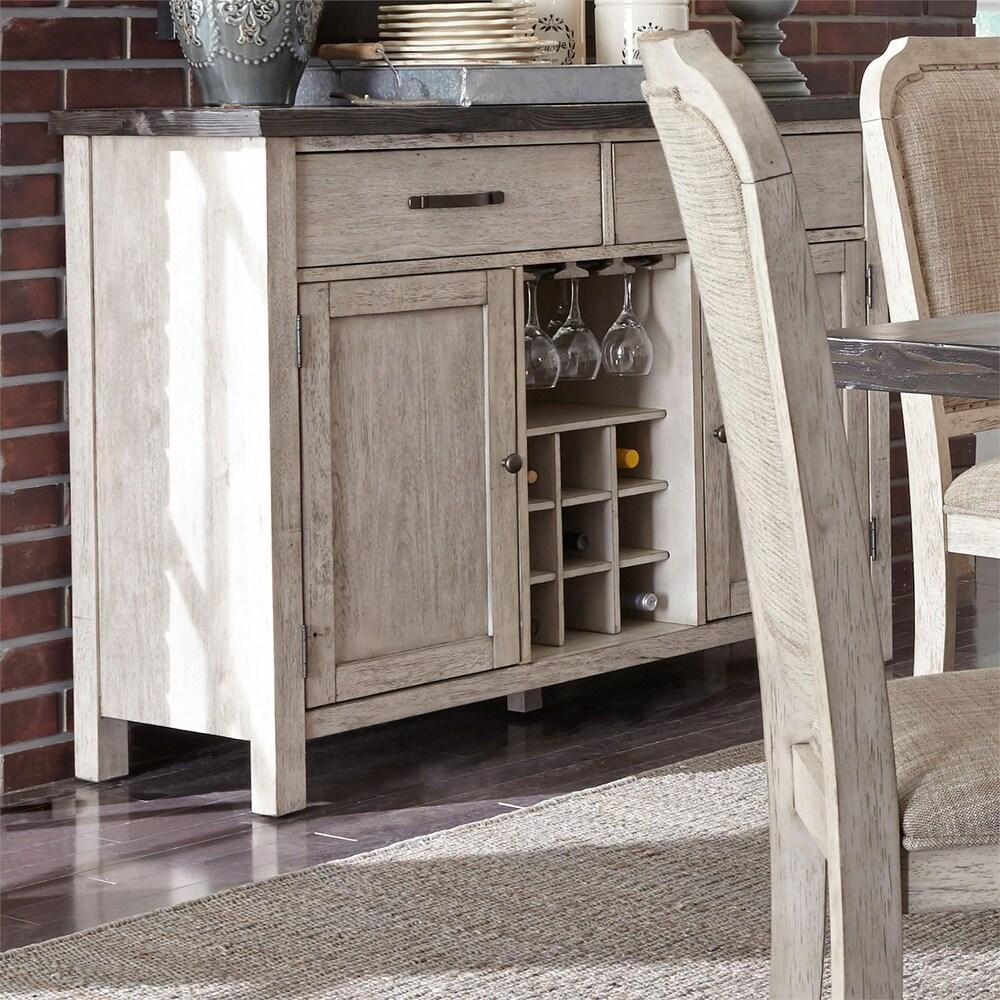 Liberty Furniture Willowrun Rustic White Sideboard (Off White)