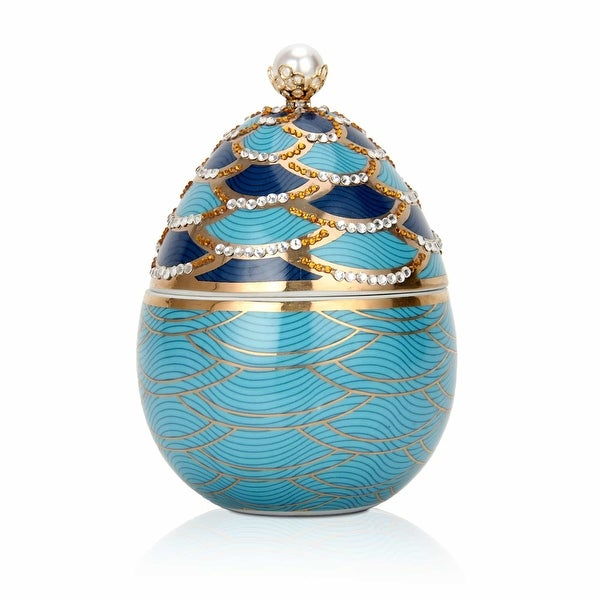 Pearl Scales Faberge Egg Candle