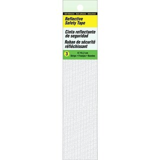 Hy-Ko Products Tp-3Wh White Refl Safety Tape TP-3WH Pack Of 50