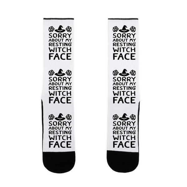 Sorry About My Resting Witch Face US Size 7-13 Socks by LookHUMAN