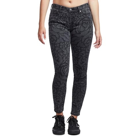 True Religion Women's Jeans 24X28 Skinny Stretch Floral
