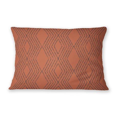 MAYA RUST Indoor Outdoor Lumbar Pillow By Kavka Designs