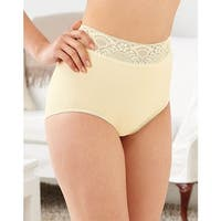 Bali Lacy Skamp Brief Panty - Size - 6 - Color - Moonlight
