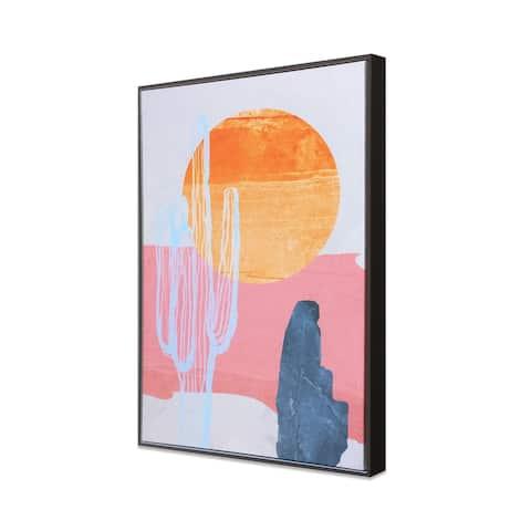 Wild Badlands Hand Painted Giclee Framed Print