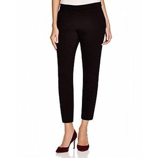 Theory NEW Black Women's Size 2X30 Elastic-Waist Dress Pants Stretch