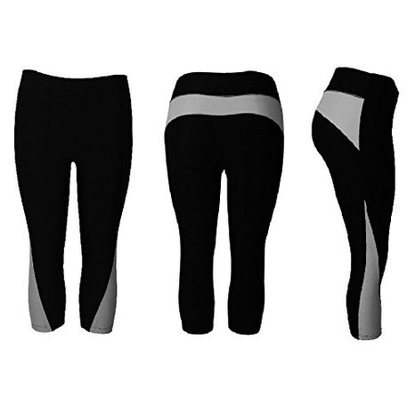 b25441dec9d27 Shop Women's Athletic Fitness Sports Yoga Pants Capri Large/X-Large-Black/Grey  - On Sale - Free Shipping On Orders Over $45 - Overstock - 12355412