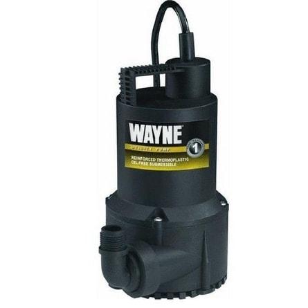 Wayne RUP160 Submersible Utility Water Pump, 1/6 Hp, 3,000 Gph