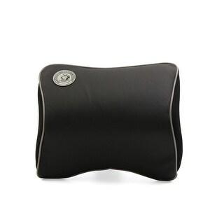 Black Gray Edge Memory Foam Bone Shape Car  Head Rest Cushion Pillow Pad