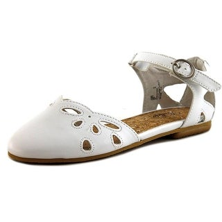 Balleto by Jumping Jacks Sadie Youth W Round Toe Synthetic White Flats
