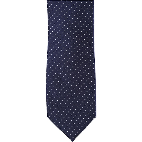 Alfani Mens Pindot Self-tied Necktie, blue, One Size - One Size