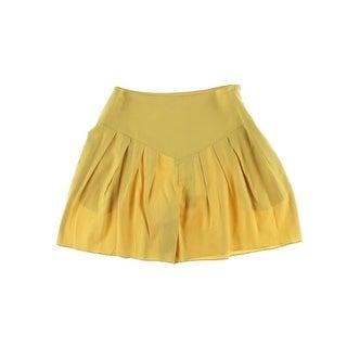 Catherine Malandrino Womens Pleated Flowy Casual Shorts - 4