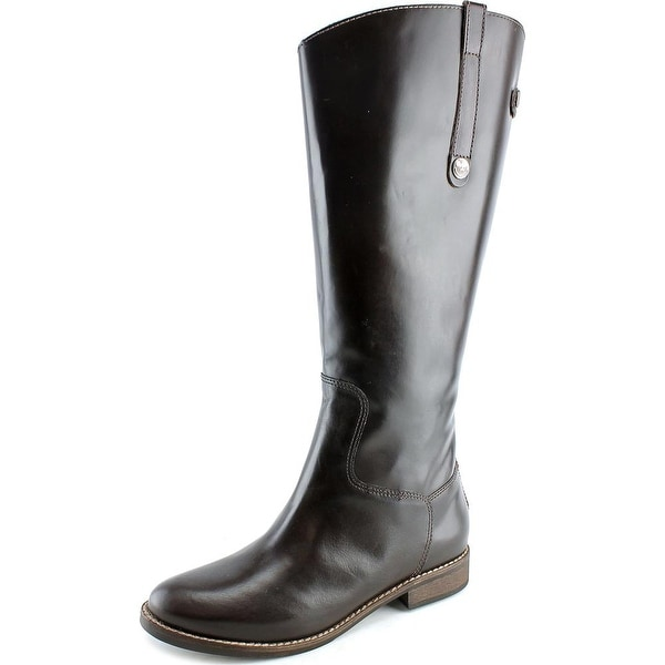 Matisse Yorker Wide Calf Women W Round Toe Leather Brown Knee High Boot