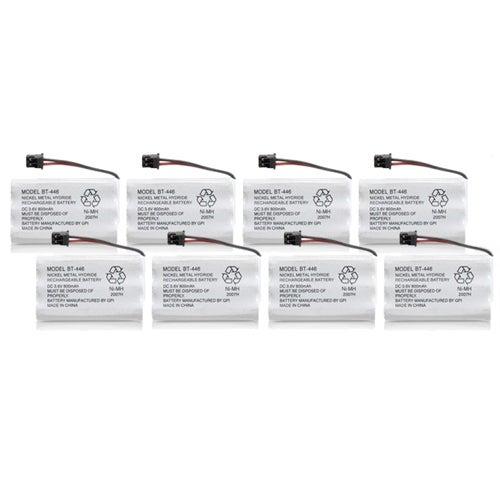 Replacement BT446 Battery for Uniden 5.8GHz TRU5860 / TRU9460 / TRU9585-2 Phone Models (8 Pack)