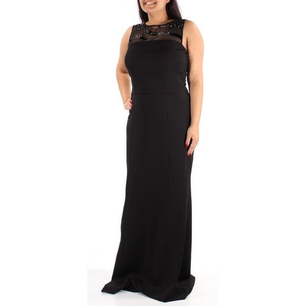 Shop RALPH LAUREN Womens Black Beaded Mesh Sleeveless Jewel Neck Full  Length Sheath Evening Dress Size  12 - Free Shipping On Orders Over  45 ... 8daf9535aa11