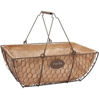"Panacea Products 14"" Rustic Herb Basket 84270-6 Unit: EACH"