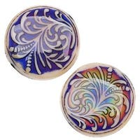 Mirage Color Changing Mood Beads - Fountain Fern Design - 23.5mm Diameter (2)