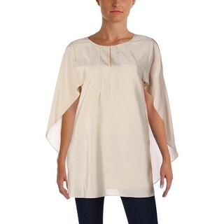 Laurel Womens Casual Top Batwing Silk